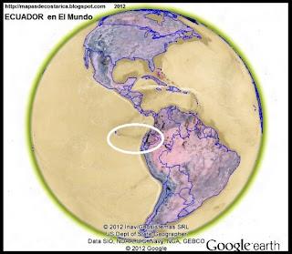 Ubicación de ECUADOR en El Mundo