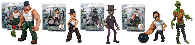 MEZCO TOYS THE GOON SERIES 1 COMPLETE SET ACTION FIGURES. SMS ME AT 9616 9144 FOR ANY ENQUIRIES