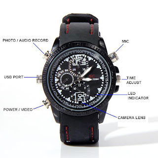 Spy Cam Watch Sport / Jam Tangan Kamera Sport 4 GB