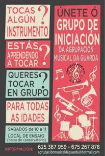 A GUARDA: A AGRUPACIÓN MUSICAL DE A GUARDA ORGANIZA UN CURSO DE INICIACIÓN.