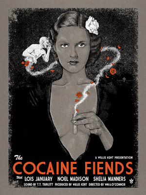 "New York Comic Con 2015 Exclusive ""Cocaine Fiends"" Movie Poster Screen Print by Timothy Pittides & Grey Matter Art"