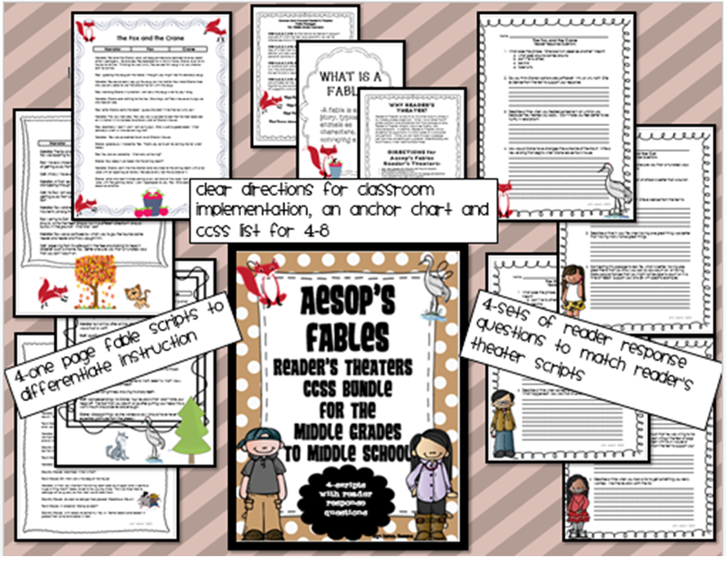http://www.teacherspayteachers.com/Product/Aesops-Fables-Readers-Theaters-CCSS-Bundle-for-MIddle-Grades-to-Middle-School-1064565
