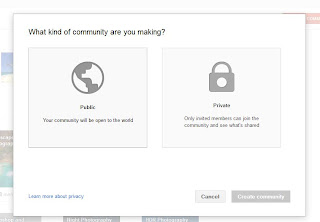 Private or public preferance for G+ community
