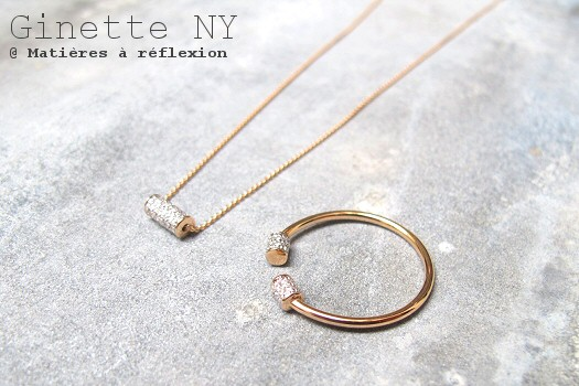 Ginette NY diamants collier et bagues