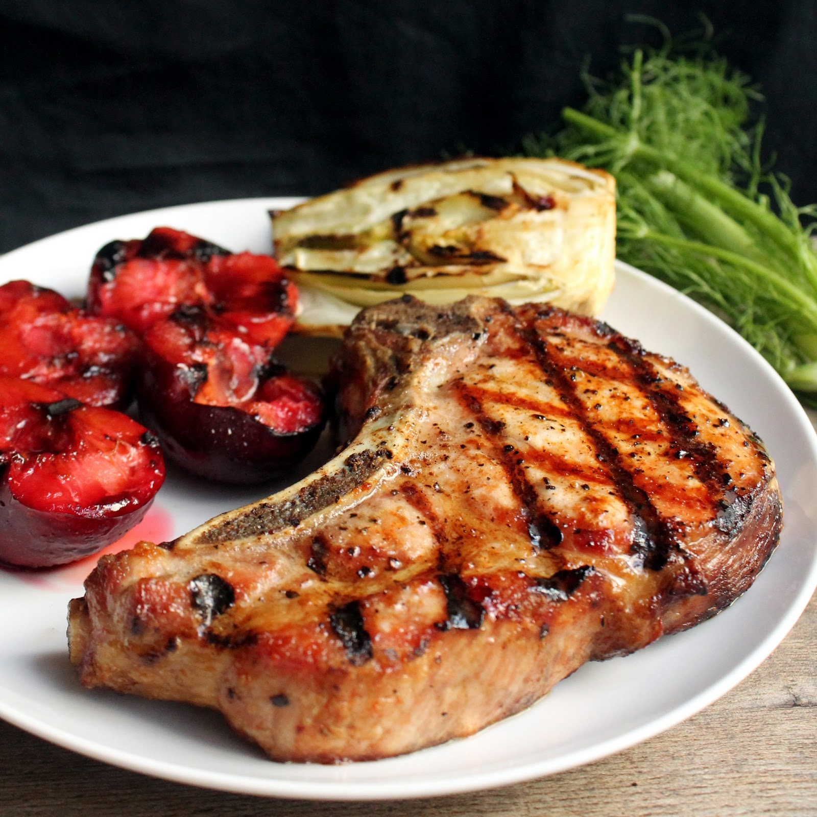 Thick Grilled Pork Chops