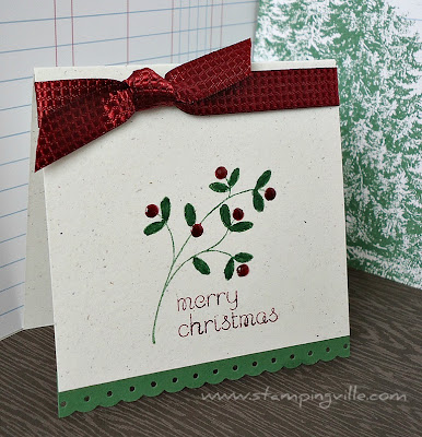 Mini Christmas Note Card Sample