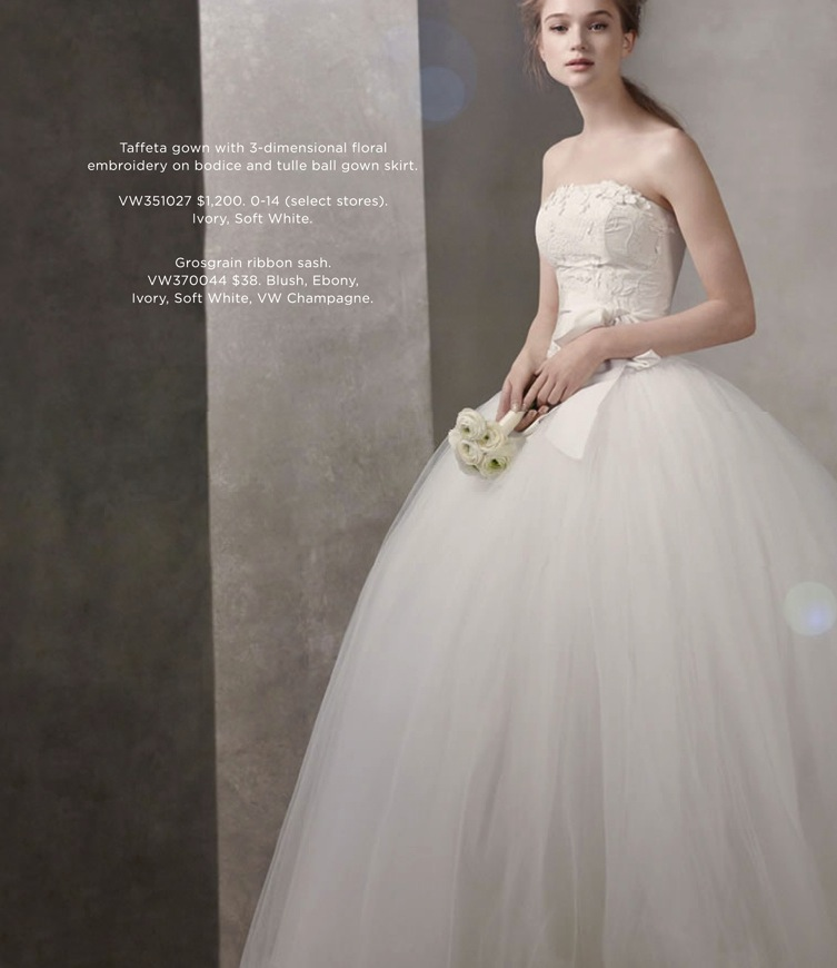 The Fall 2011 White By Vera Wang Collection Will Be Available At Select Davids Bridal Locations On Wednesday June 22 First To Make An Appointment