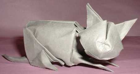 Origami cat biddle essential 3d