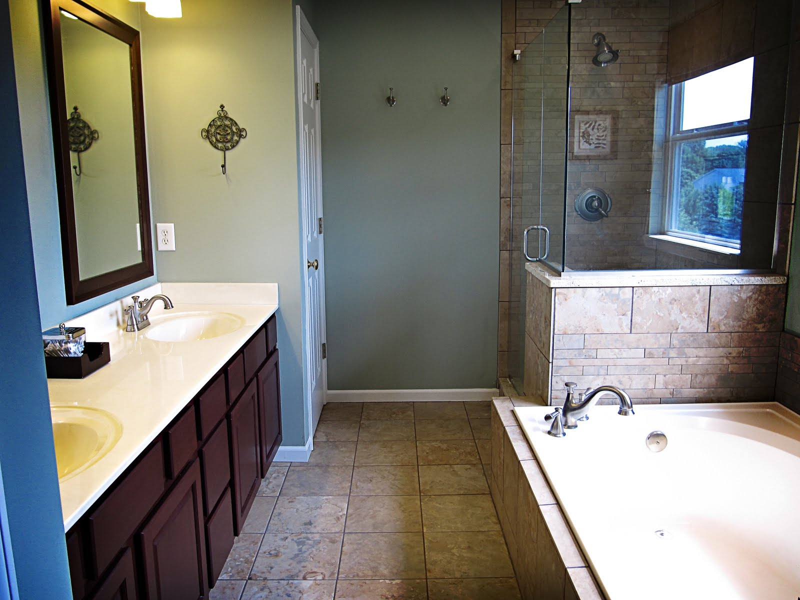 Remodelaholic master bathroom before after and for Bath remodel before and after pictures