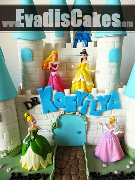 Close view picture of Penang castle cake