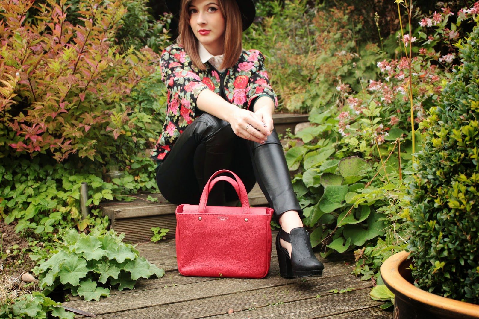 uk fashion blogger styles winter florals