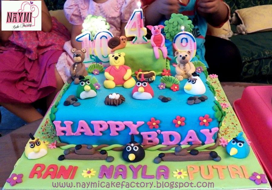 Cake Images Rani : Image Birthday Cake Tema Tedy Bear Winnie The Pooh N Angry ...