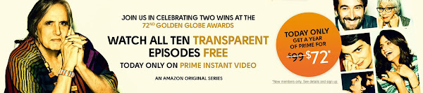 Amazon Prime and Transparent offer