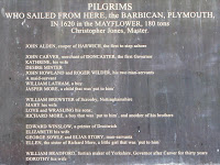 Part of the Mayflower plaque