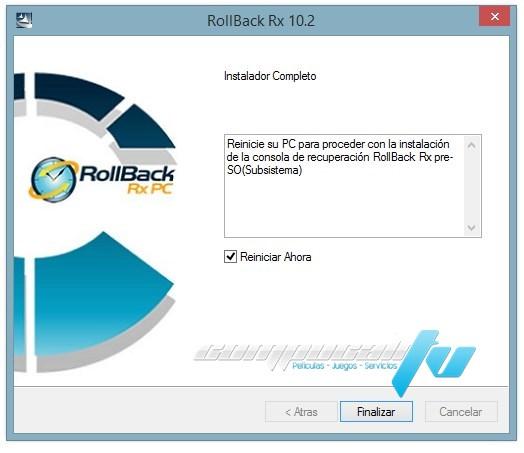 RollBack Rx 10.2 Final Recupera el Sistema Operativo
