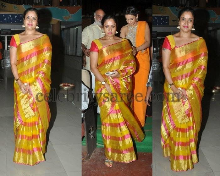 Pragathi Mustard Silk Saree