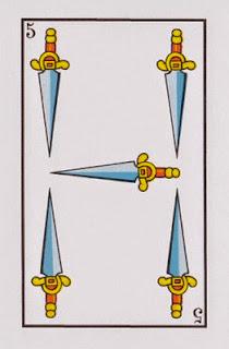 cinco de espadas baraja española