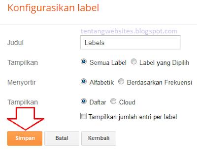 Cara buat label blog