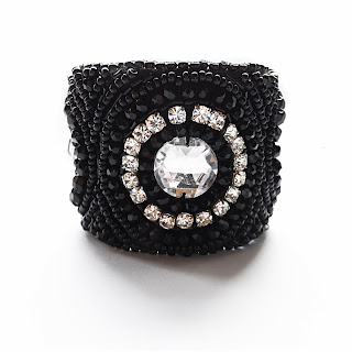 statement cuff, elisha francis, black jewellery, women's jewellery, female bracelet