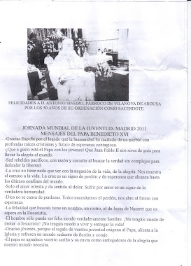 felicidades a D.ANTONIO SINEIRO