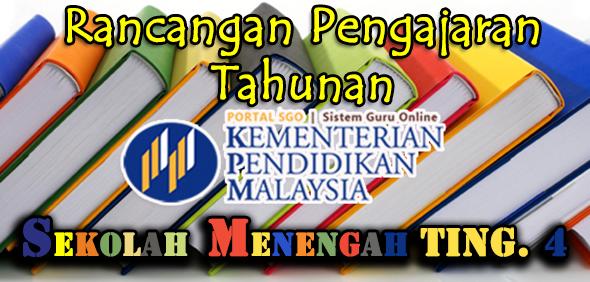 RPT Rancangan Pengajaran Tahunan Tingkatan 4 Subjek Pendidikan Jasmani
