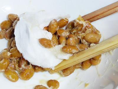 納豆に綿菓子★わたがし納豆