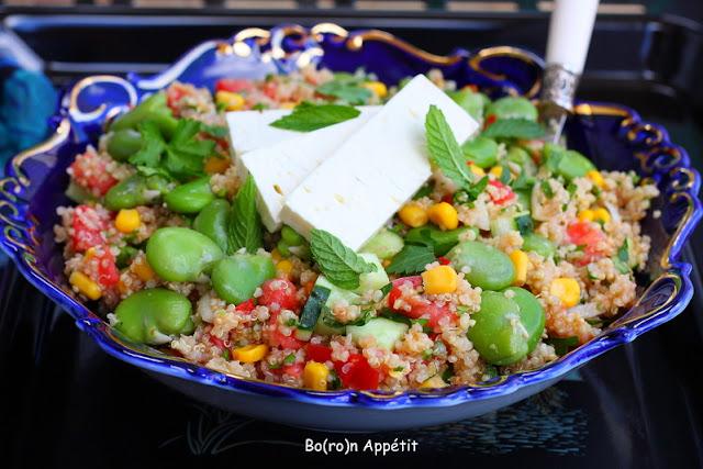Sałatka quinoa i bób