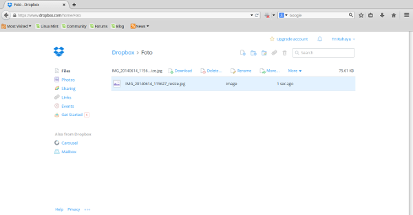 dropbox-list-file