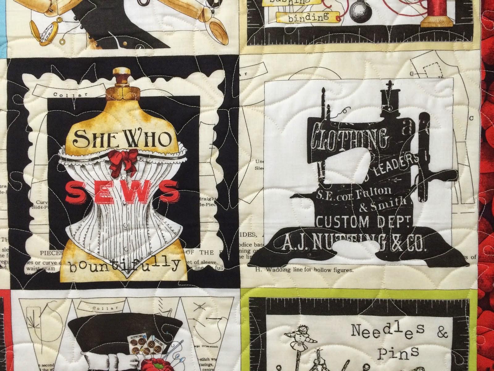 """Leslie St. Onge's """"She Who Sews"""" Quilt"""