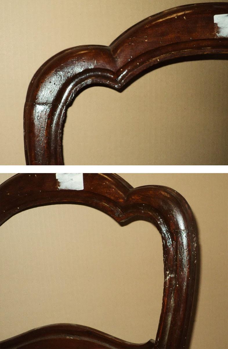 Nr. 4 sedie Luigi Filippo da restaurare Four antique 19th C ...