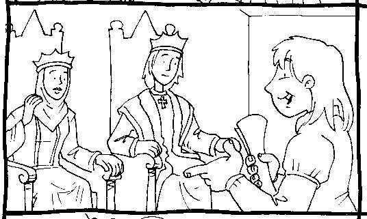 Drawing of Christopher Columbus and the kings coloring ~ Child Coloring