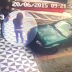 Woman plans to sit on the hood of a car but unfortunate event strikes her.