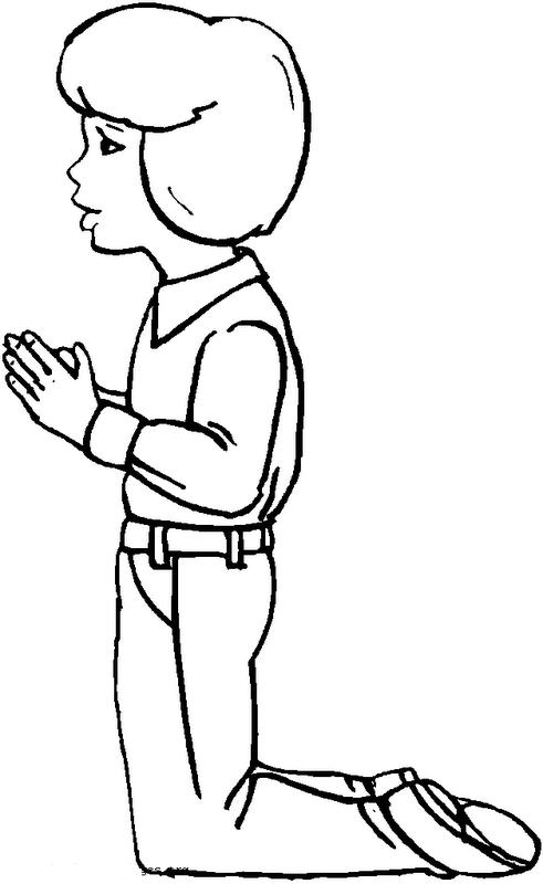 COLOREA TUS DIBUJOS: Niño rezando para colorear