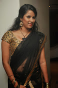 Sravya reddy sizzling saree photos-thumbnail-6