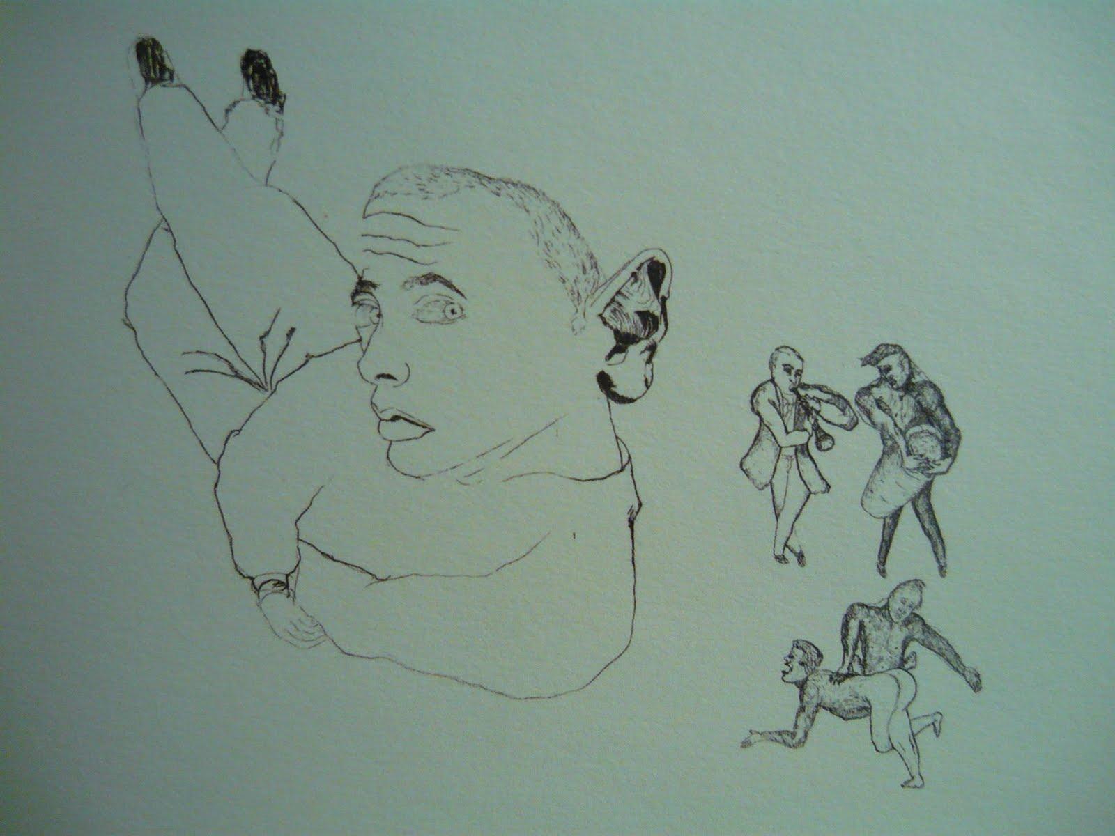 Francesco Clemente Drawings i Like How he Traverses The