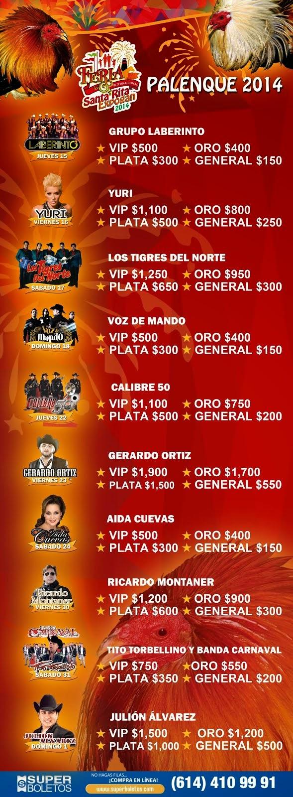Palenque Sta Rita Expogan 2014