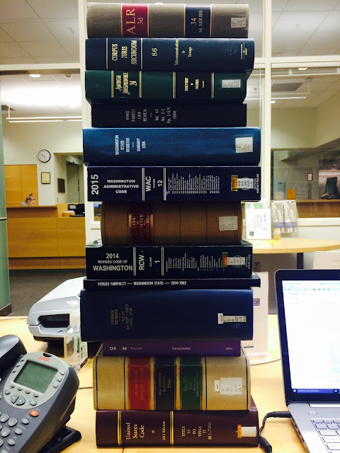 stack of law books
