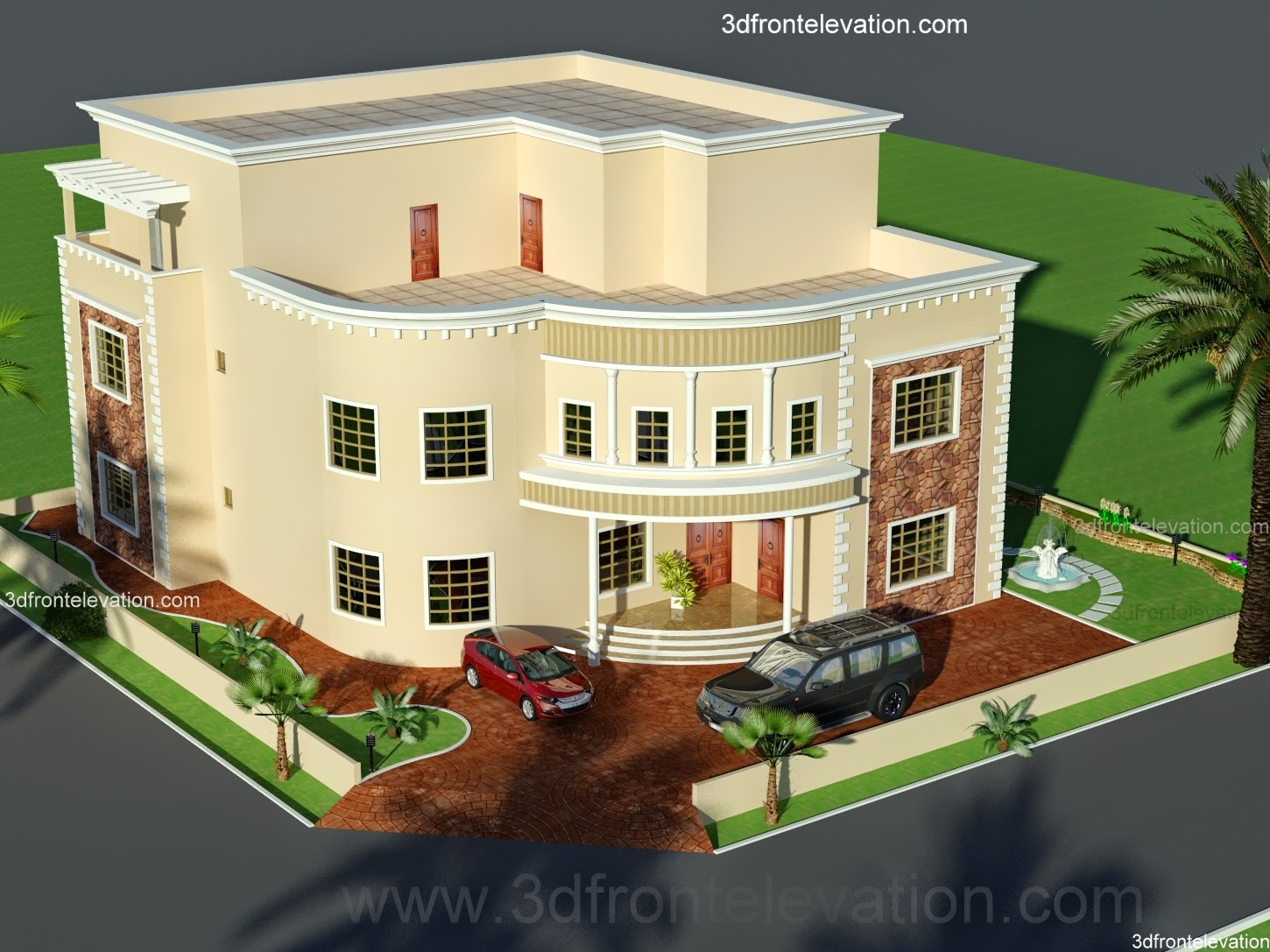 3d front dubai arabian house 3d front Architecture design house plans 3d