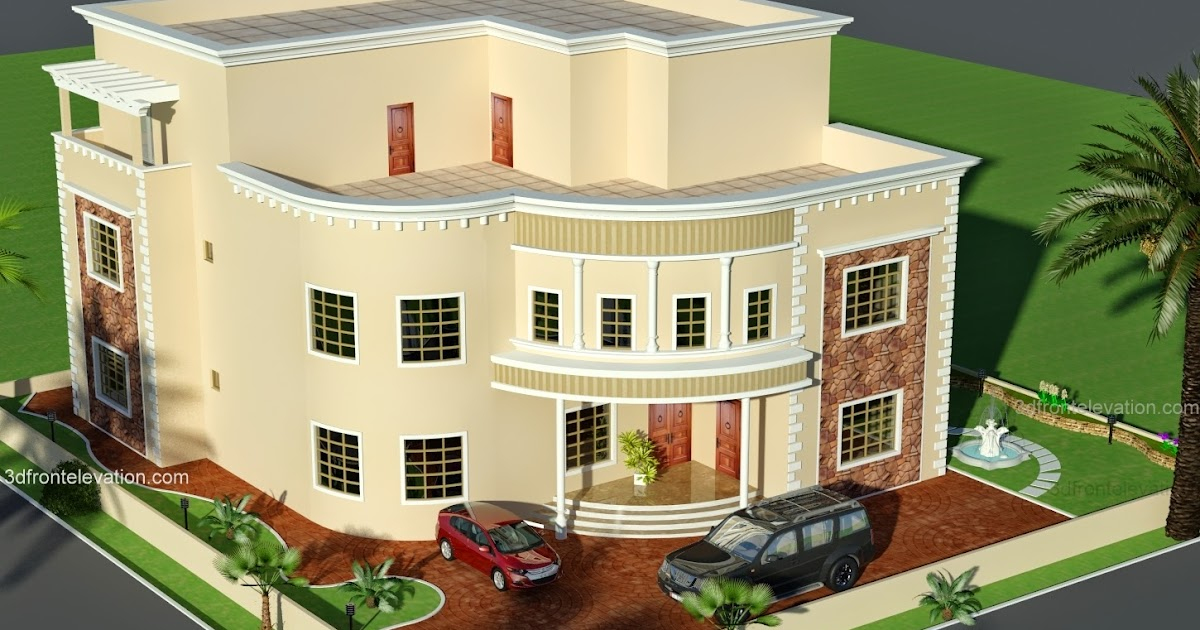 Dubai Arabian House 3d Front Elevation on Modern House Design