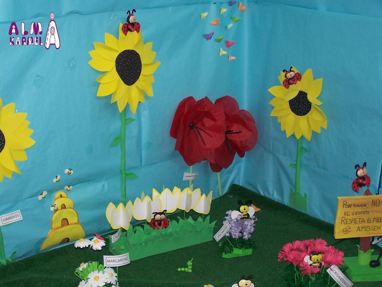 Almakarmela primavera y graduaci n en la escuela infantil for Decoracion para jardin de ninos