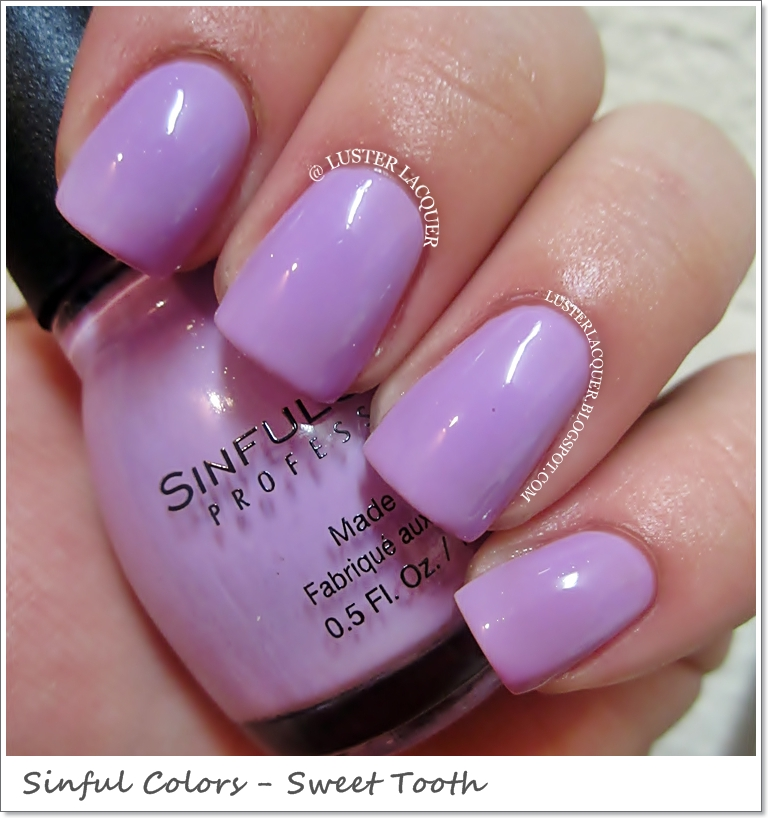 Luster Lacquer: Sinful Colors Sugar Rush (Spring 2013 Collection)