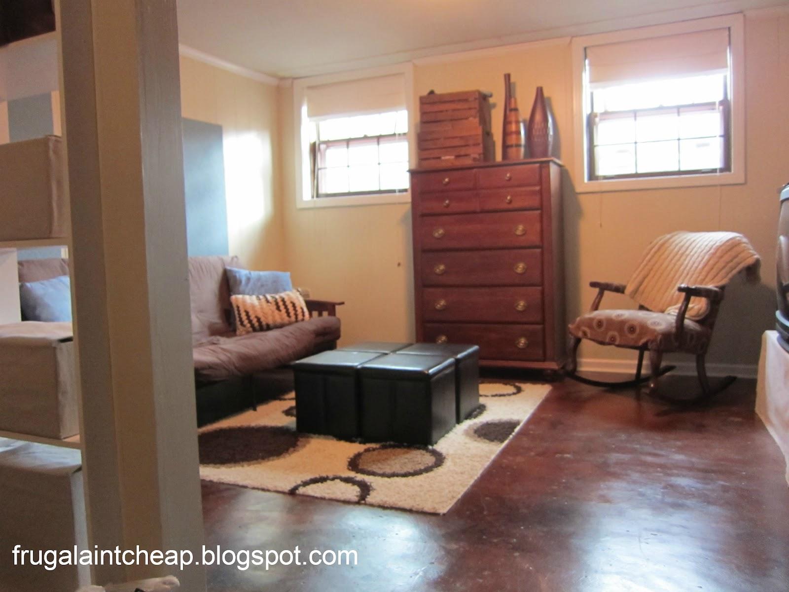 frugal ain't cheap: basement remodel