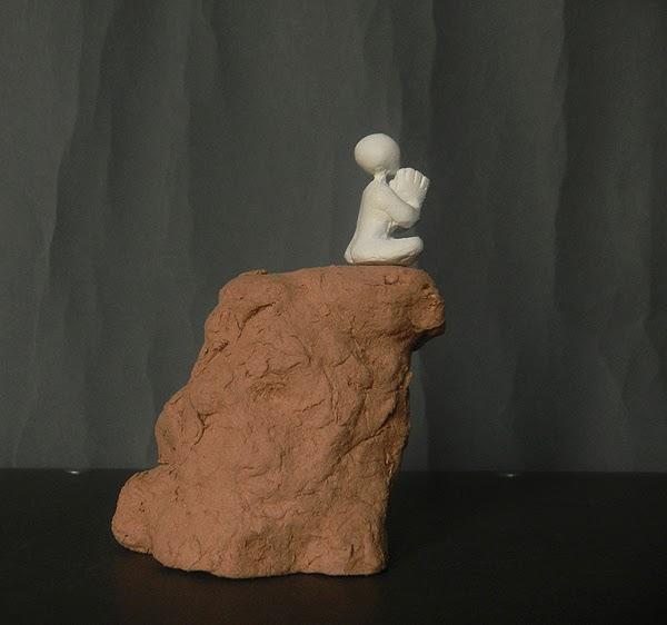 scultura soprammobile zen meditazione spirituale buddha preghiera orme magiche