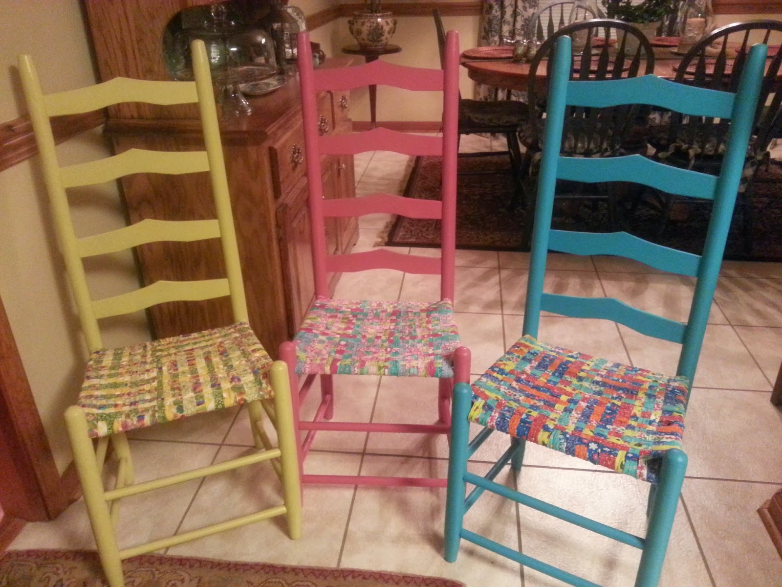 Welcome To My Fabric Chair Seat Weaving Post! About A Year Ago, I Decided  That I Had Too Many Ladder Back Chairs
