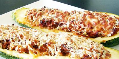 Zapallo italiano asado con Arroz