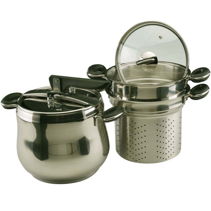 OX-1060F Panci Presto 5in1 Oxone - Stainless Steel