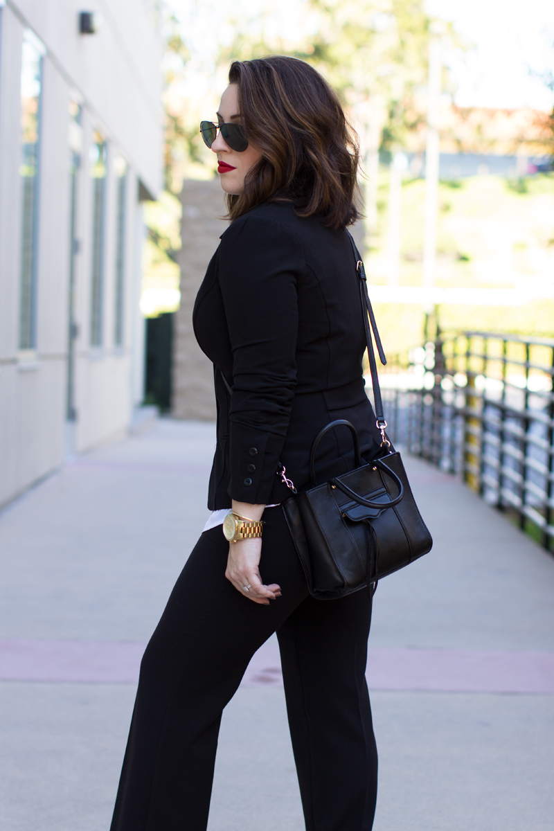 rebecca minkoff mini mab tote black, byer california basics bundle, black ray ban aviators