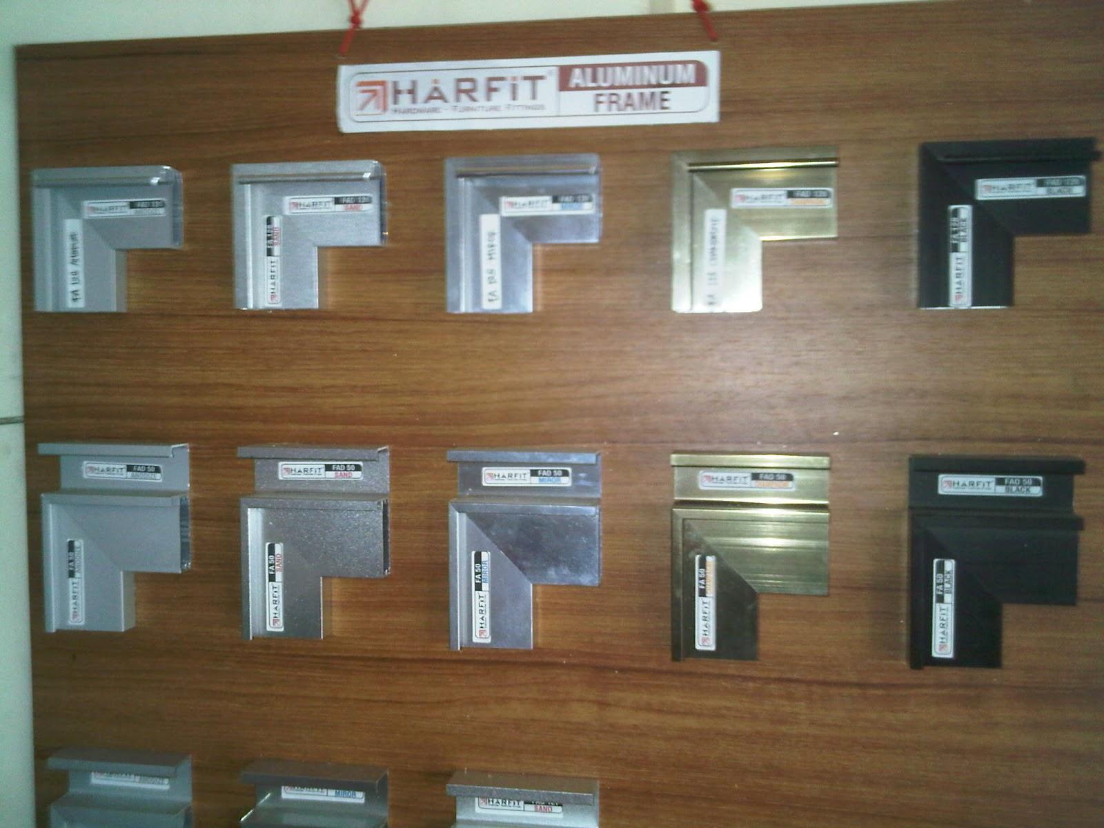 Handle dan frame aluminium untuk kaca harfit bintang for Jual kitchen set aluminium