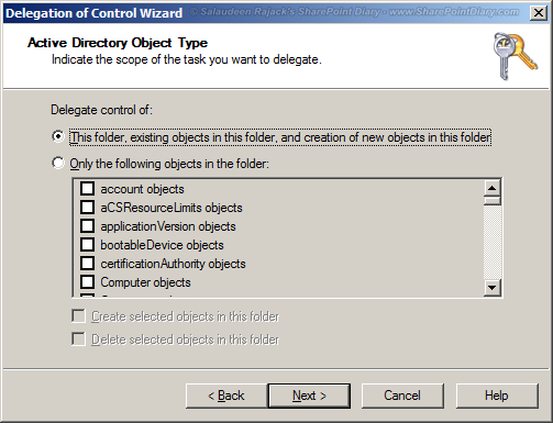 sharepoint 2010 replicate directory changes permission