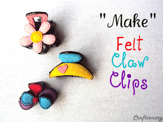cute felt hair claw clips pattern tutorial